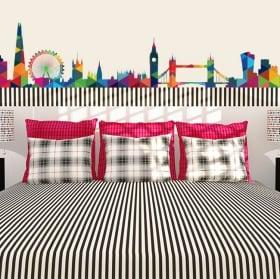 Decorative vinyl and stickers london skyline