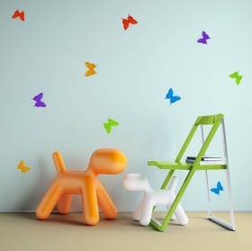 Decorative vinyl and stickers origami butterflies