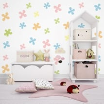 Wall murals for children or youth shapes of colors