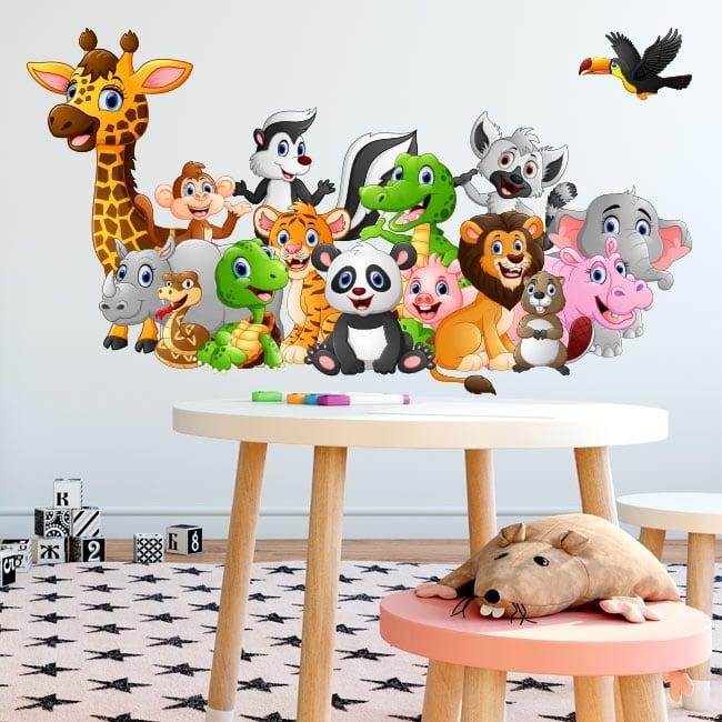 Stickers and decals children's animals