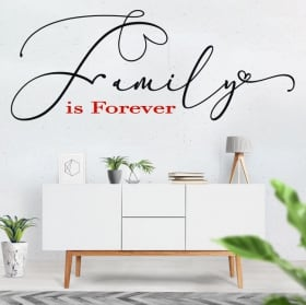 Vinyl english motivational phrases family is forever