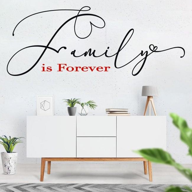 Vinyl english motivational phrases family is forever