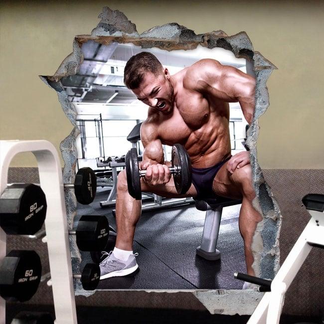 Vinyl decor walls gym fitness 3d