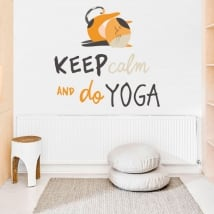 Decorative stickers english phrases keep calm yoga