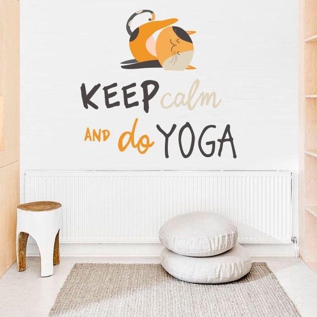 Decorative stickers english phrases keep calm yoga