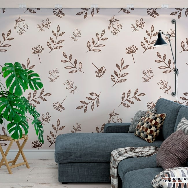 Wall murals of decorative vinyl nature