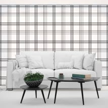 Photo murals vinyl walls black lines