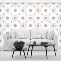 Photo murals vinyl walls retro style circles