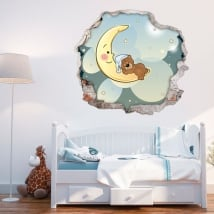 Children's decorative vinyl teddy bear dreams 3d