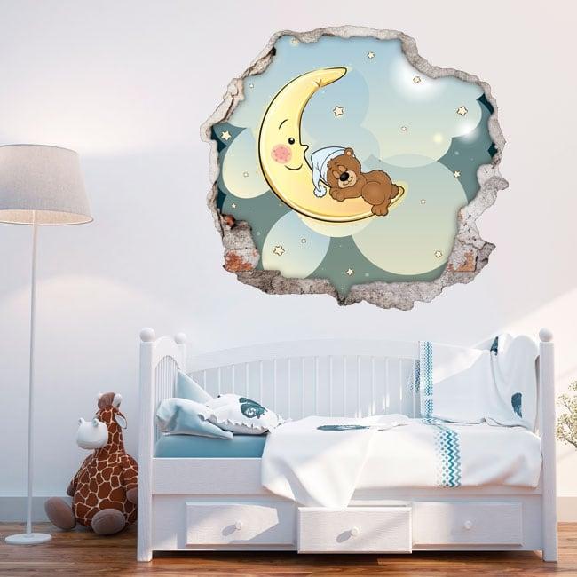 Children's decorative vinyl teddy bear dreams 3d