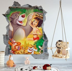 Decorative vinyl and wall stickers 3d dog