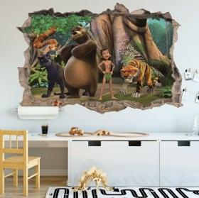 Decorative vinyl 3d children's zoo