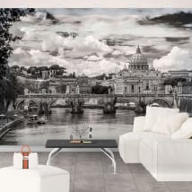 Wall murals basilica of saint peter vatican rome italy