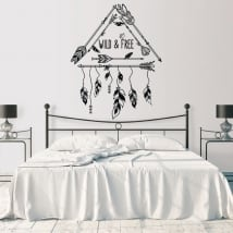 Wall murals english phrase decoration boho style