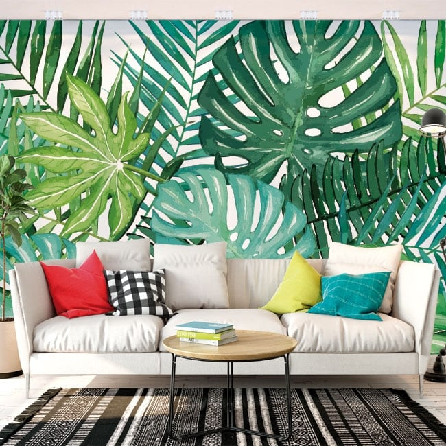 Photo murals vinyls walls tropical nature