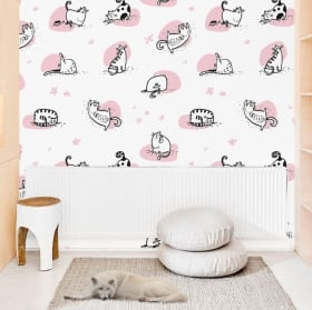 Wall murals of retro style stickers