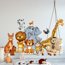 Vinyl walls children's or youth animals