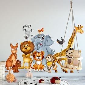 Decorative vinyl children's or youth animals