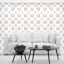 Photo murals vinyls walls gray circles