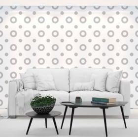 Photo murals vinyls walls gray circles