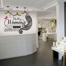 Decorative vinyl beauty salons