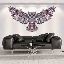 Decorative vinyl walls tribal owl
