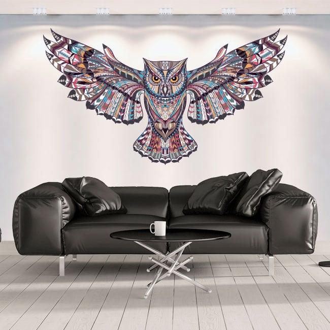 Decorative vinyl walls tribal owl