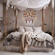 Decorative vinyl walls tribal lion