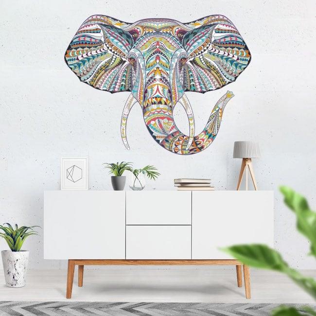 Decorative vinyl tribal elephant
