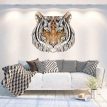 Vinyl walls tribal tiger