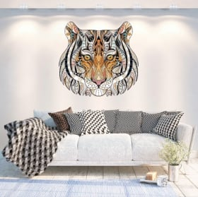 Vinyl walls tribal tiger