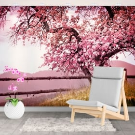 Vinyl wall murals cherry blossom tree