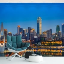 Vinyl wall murals china city of chongqing