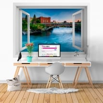 Vinyl walls washington spokane river 3d window