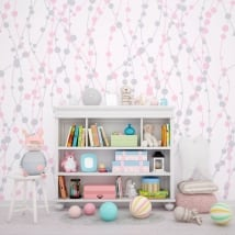 Wall murals for children or youth lines and circles