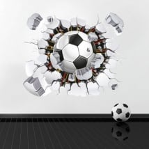 Vinyl and stickers 3d soccer ball