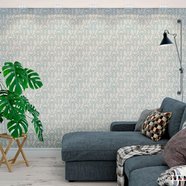 Vinyl wall murals with vintage style