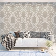 Wall mural with vintage style