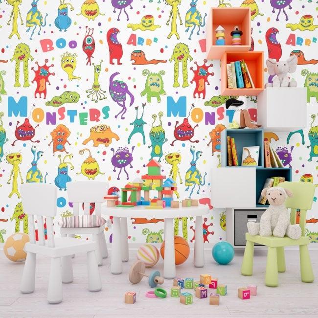 Vinyl wall murals children's monsters