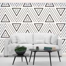 Wall murals retro style triangles