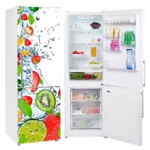 Decorative vinyl refrigerators fruits splash water