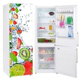 Decorative vinyl fruits refrigerators and fridges