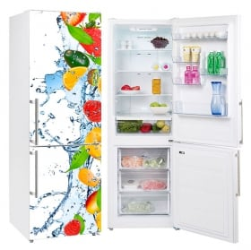 Decorative vinyl refrigerators fruits splash water