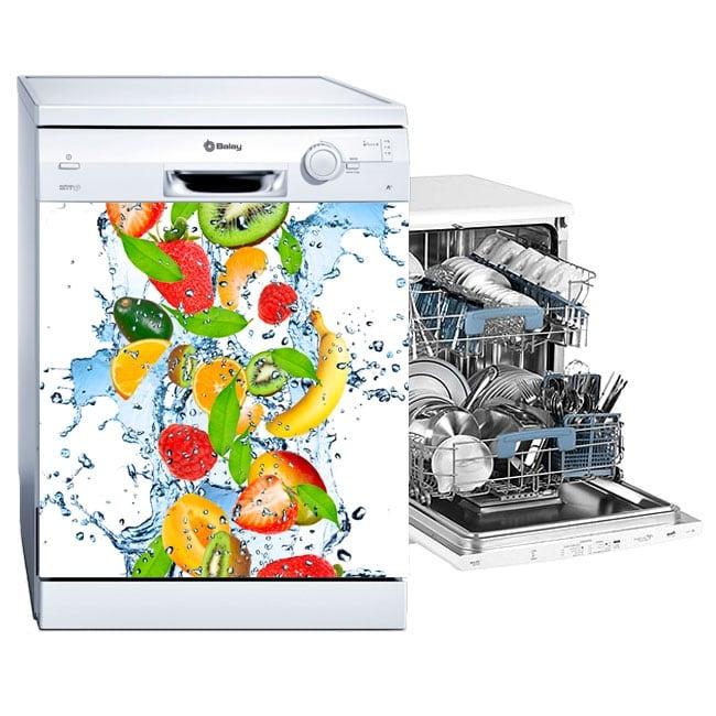 Vinyl and stickers dishwasher fruits splash water