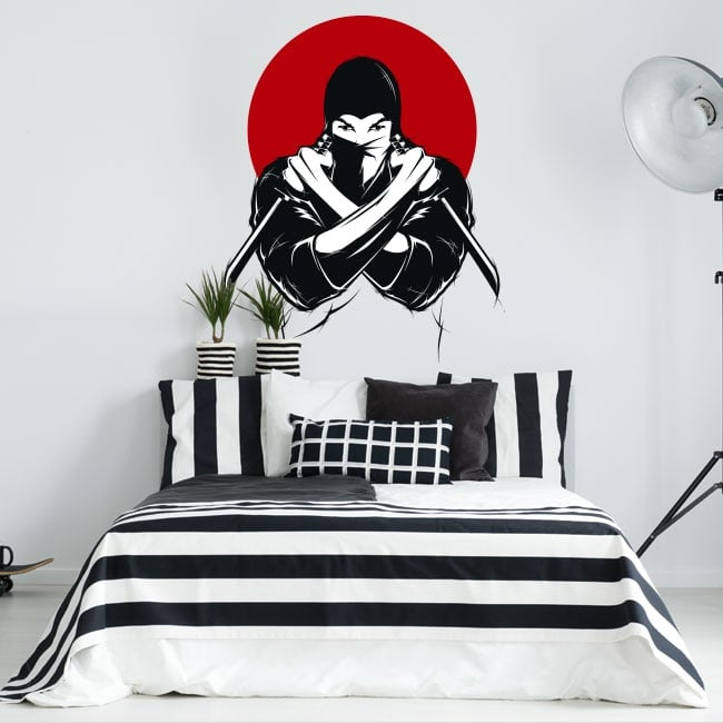 Vinyl and stickers ninja silhouette