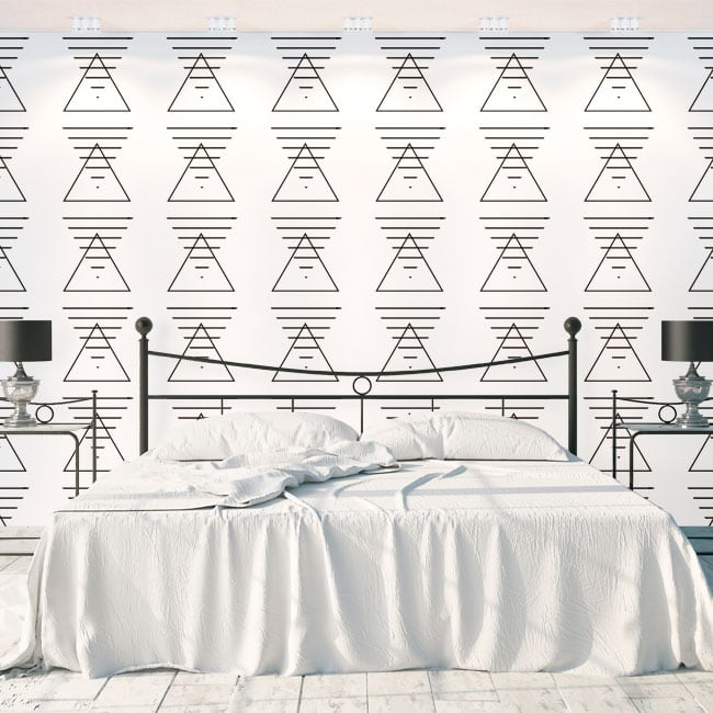 Wall murals triangles and lines