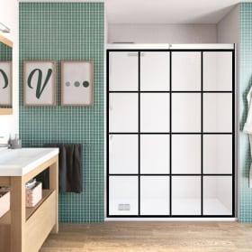 Vinyl bathroom screen square colors
