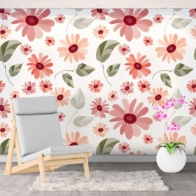 Adhesive murals flowers to decorate