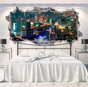 Vinyl walls panoramic city bangkok thailand 3d