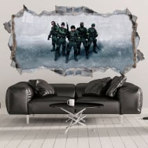 Decorative vinyl and stickers counter strike 3d